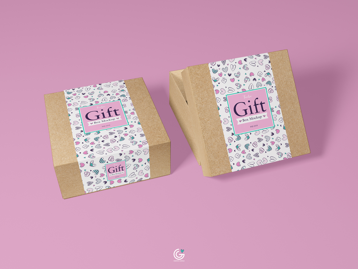 Free-Packaging-Craft-Paper-Gift-Box-Mockup-PSD-2018