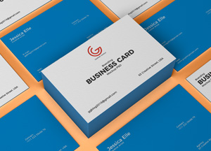 Free PSD Branding Business Card Mockup