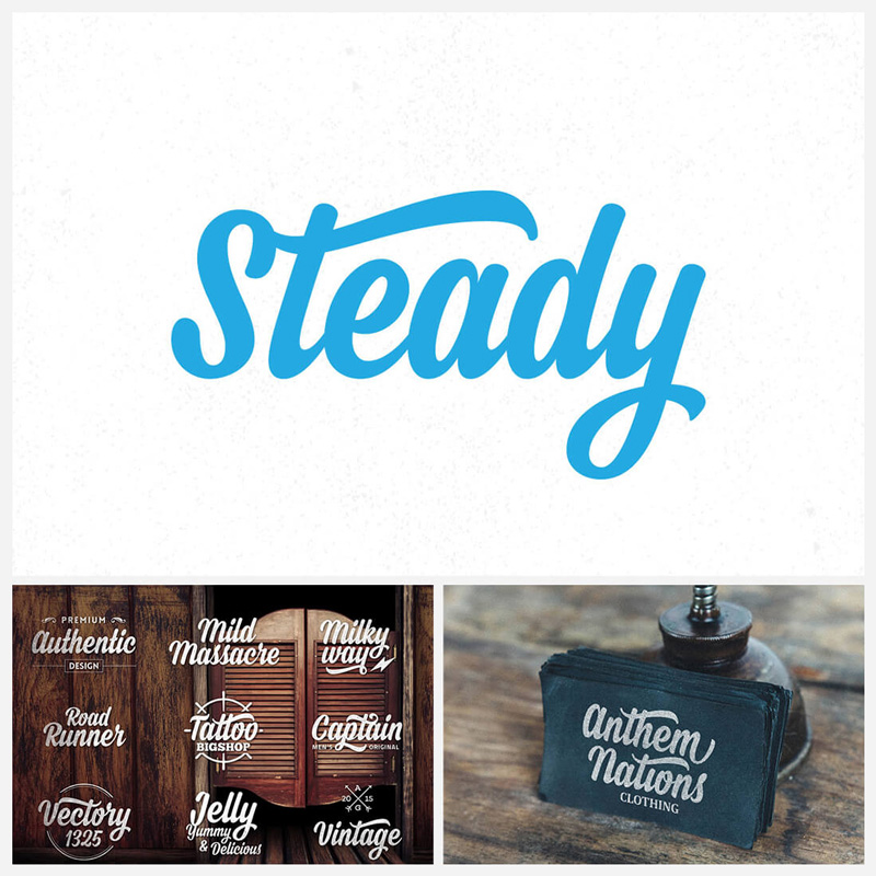 Steady-Display-Script-Typeface