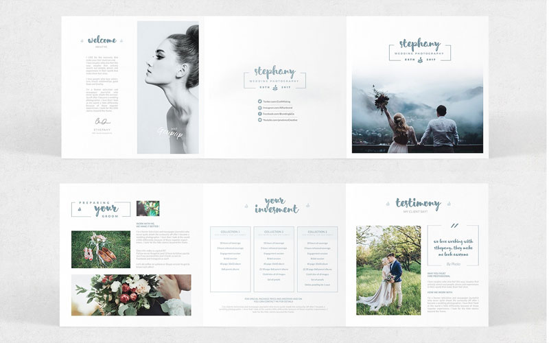 Wedding-Photographer-Square-Tri-fold-Pricing-Brochure