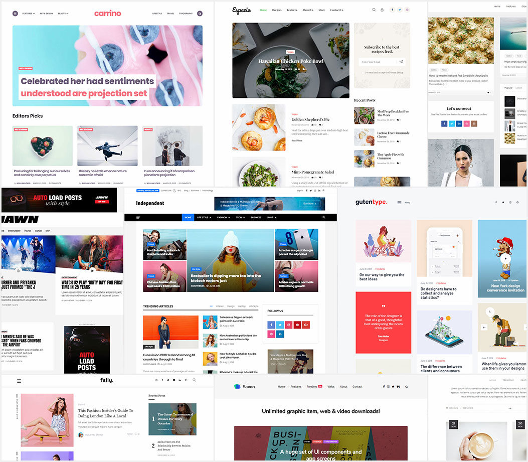 20-Top-WordPress-Blog-&-Magazine-Themes-For-2019-300