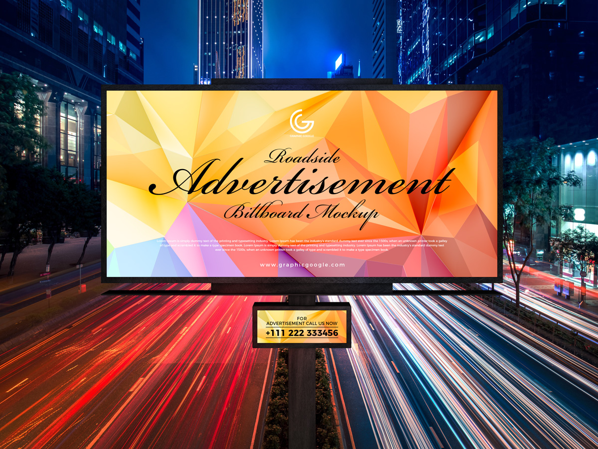 Free-Roadside-Outdoor-Advertisement-Hoarding-Billboard-Mockup-PSD-2019