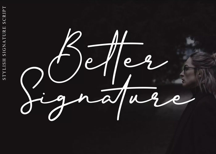 Free-Better-Signature-Font-Demo