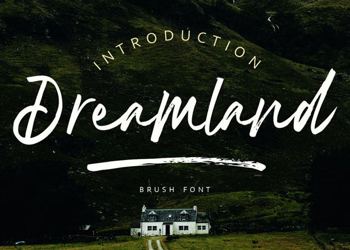 Free-Dreamland-Brush-Font-Demo