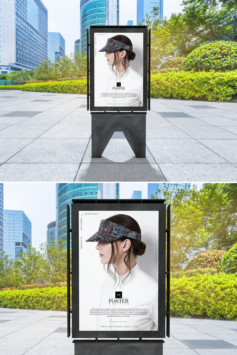 Free-Modern-Outdoor-Advertisement-Poster-Mockup-PSD-2019
