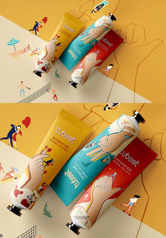 vibrant-color-gesture-hand-cream