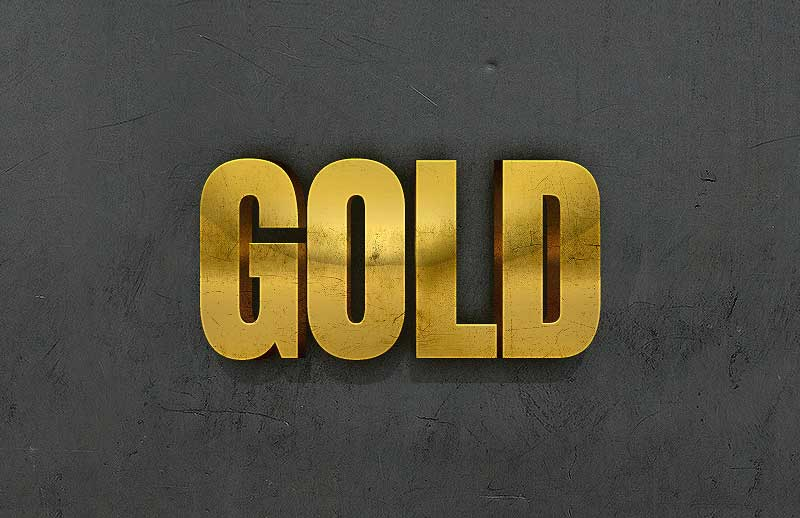 3D-Gold-Text-Effect-With-Photoshop-Layer-Styles