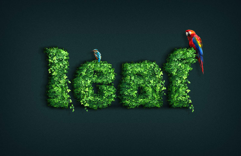 Create-a-Leaf-Covered-Text-Effect-Action-in-Adobe-Photoshop
