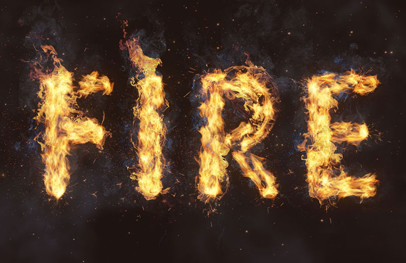 Flame-Text-Effect-in-Adobe-Photoshop