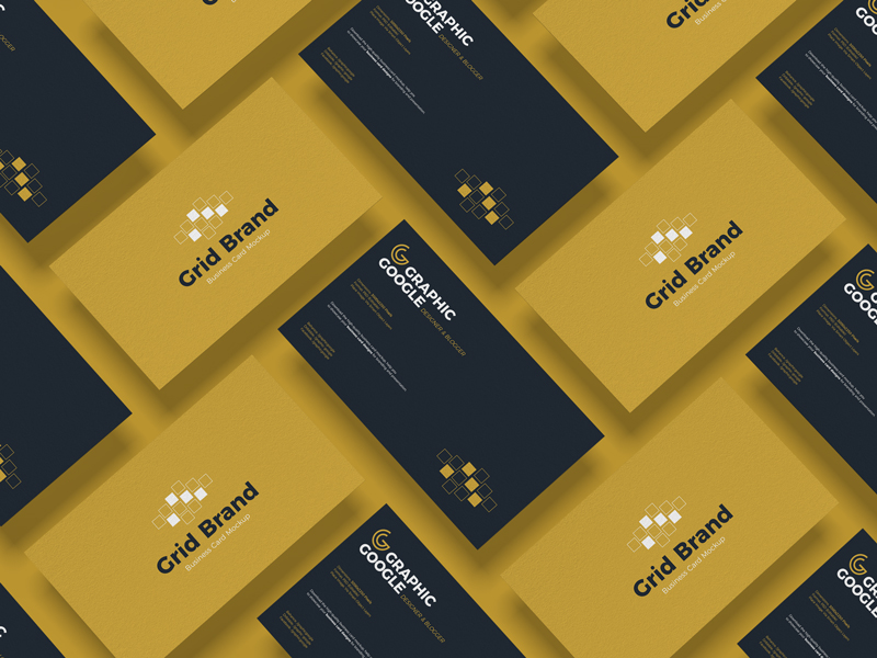Free-Grid-Brand-Business-Card-Mockup