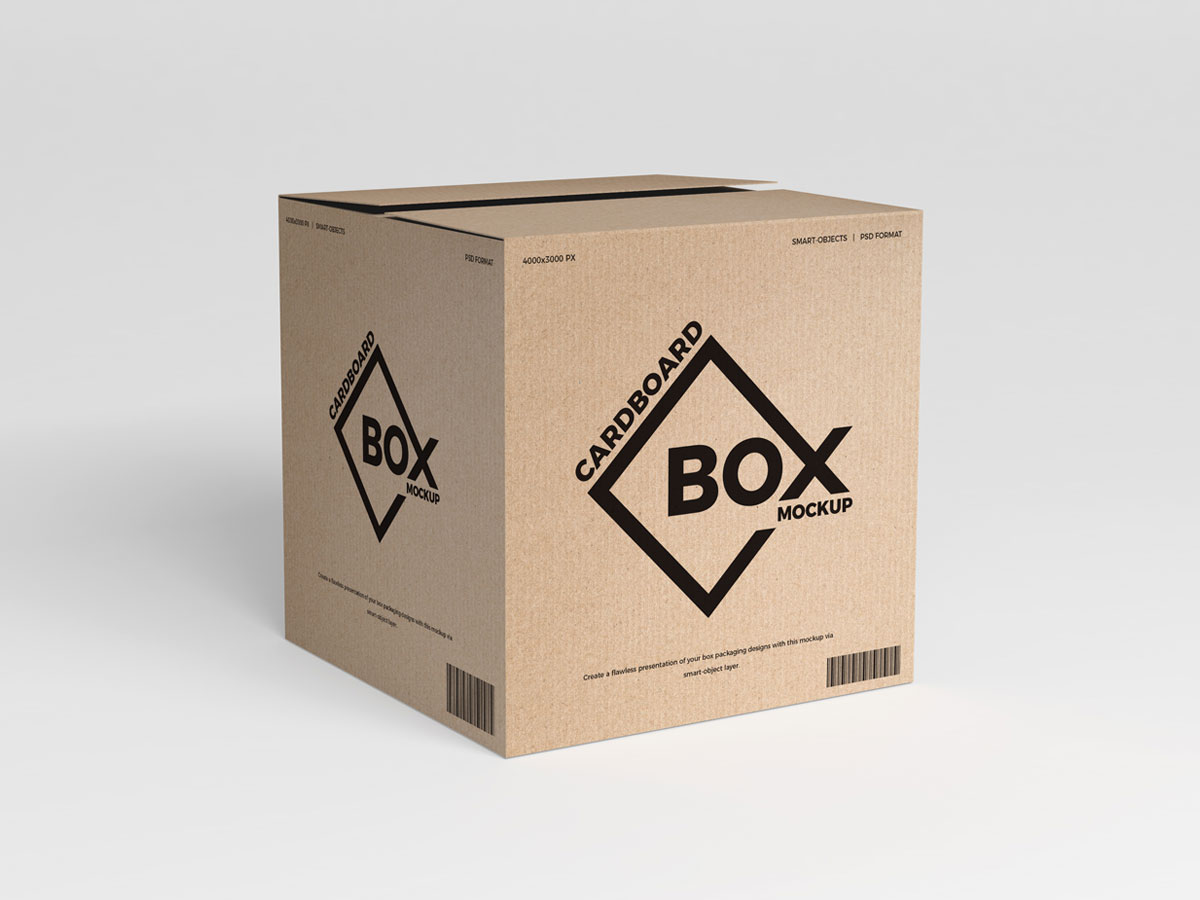 Free Psd Cardboard Box Packaging Mockup Graphic Google Tasty
