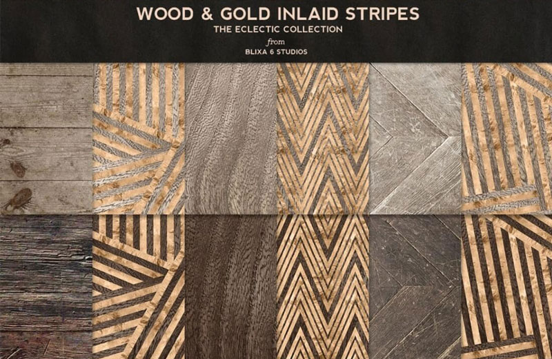 Wood-&-Gold-Inlaid-Stripes