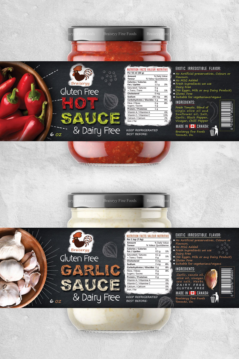 Hot-Sauce-&-Garlic-Sauce-Creative-Packaging-Design