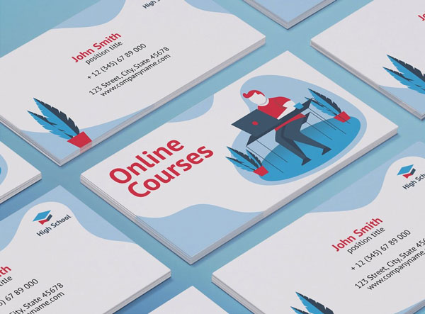 Modern-Online-Courses-Business-Card