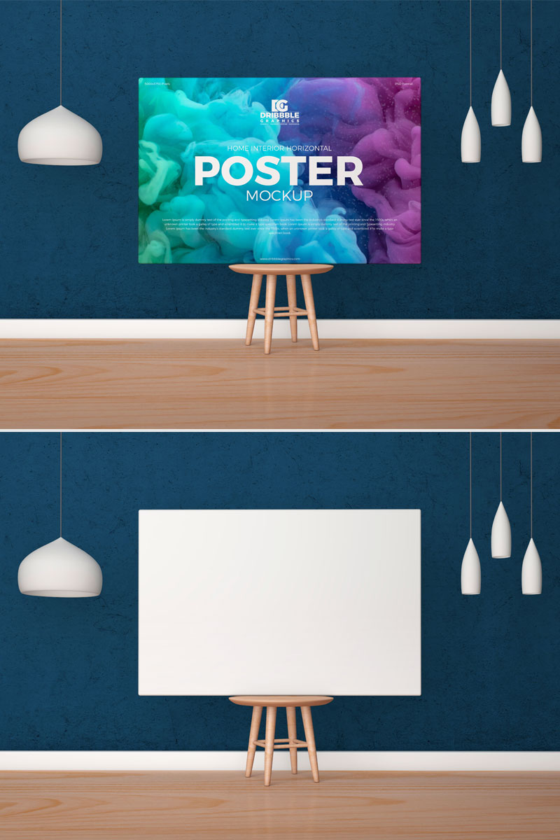 Free-Interior-Horizontal-Poster-Canvas-Mockup