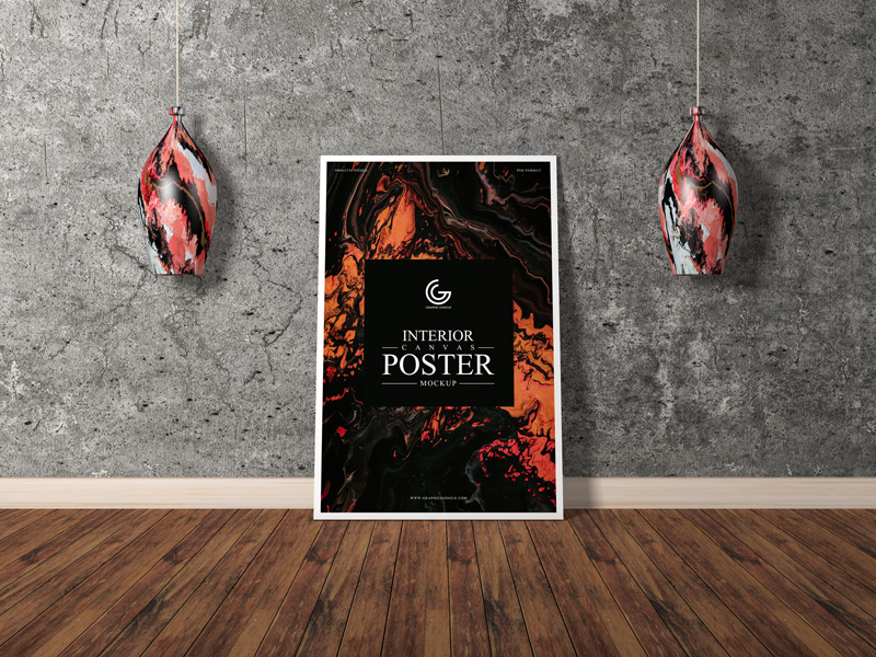 Free-Interior-Vertical-Canvas-Poster-Mockup
