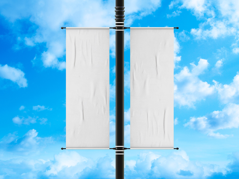 Free-Outdoor-Advertisement-Lamp-Post-Banner-Mockup-600