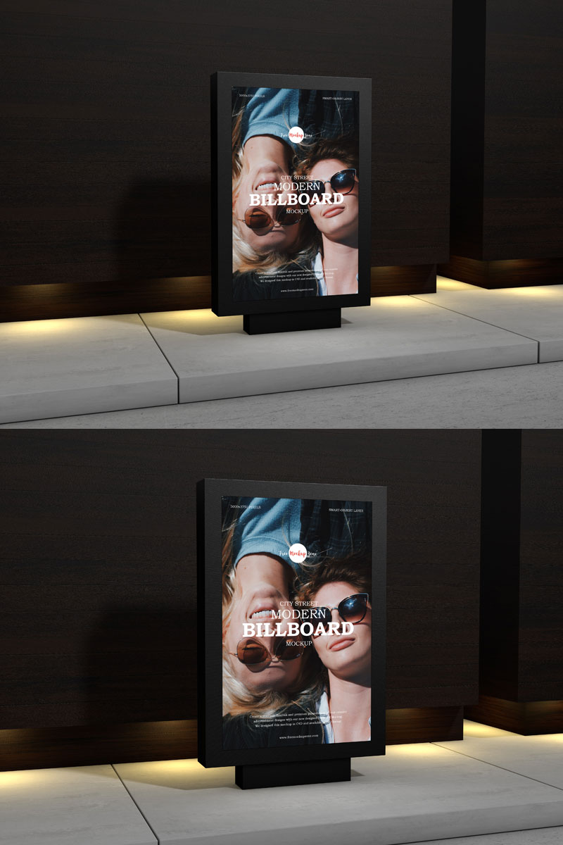 Free-Outdoor-Advertisement-Street-Billboard-Mockup-PSD