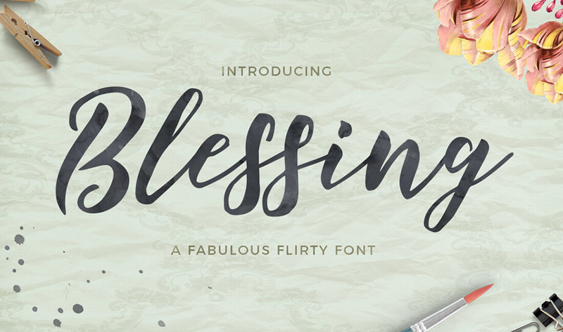 Blessing-Romantic-Font