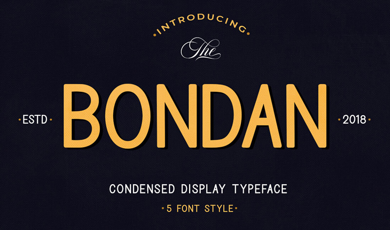 Bondan-Condensed-Display-Typeface