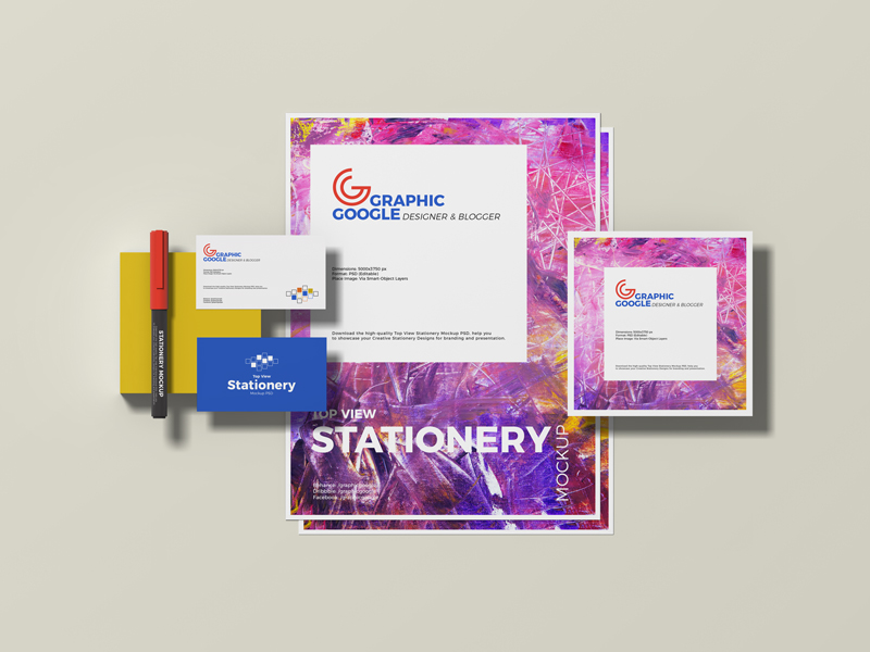 Free-Top-View-Stationery-Mockup-PSD