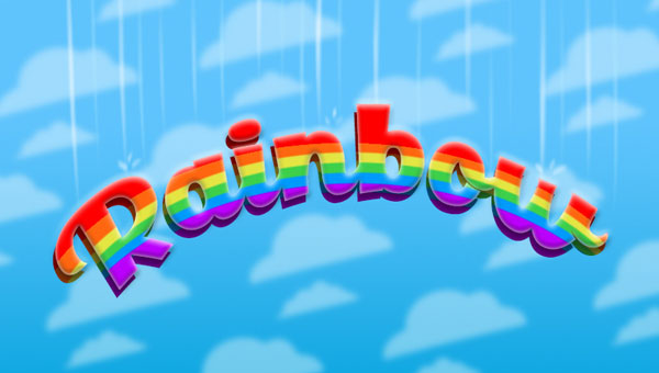 Create-a-Cartoon-Rainbow-Text-Effect-in-Photoshop
