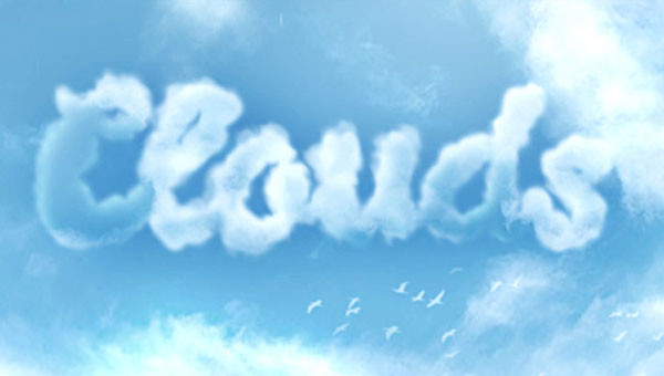 Create-a-Cloud-Text-Effect-in-Photoshop