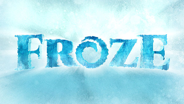 Create-a-Disney-Frozen-Text-Effect-in-Photoshop