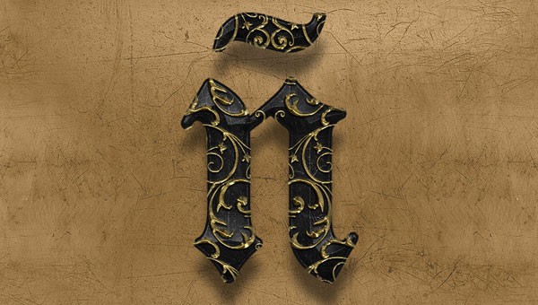 Create-an-Elegant,-Ornate-3D-Photoshop-Text-Effect