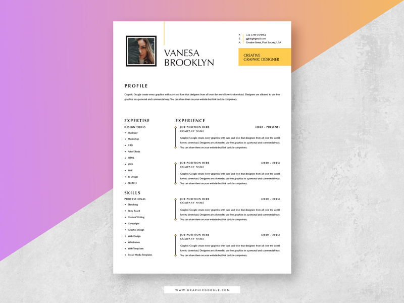 Free-Simple-Elegant-CV-Resume-Template-With-Cover-Letter-1