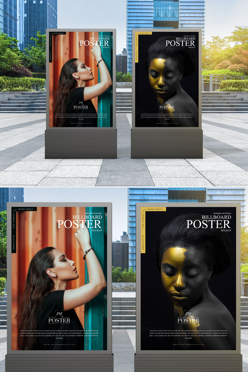 Free-Vertical-Poster-Billboard-Mockup-For-Outdoor-Advertisement