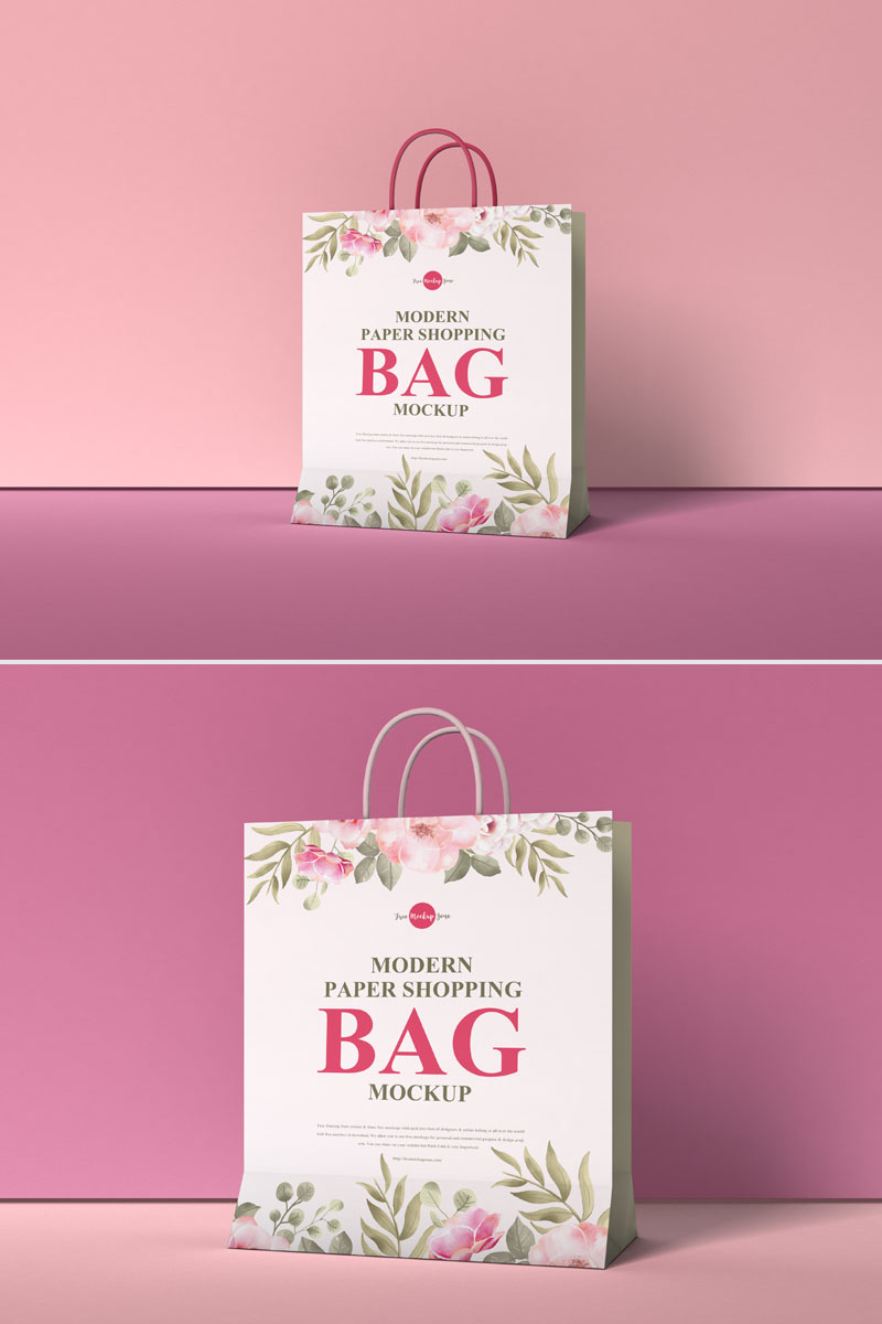 Free-Packaging-Shopping-Paper-Bag-Mockup-PSD