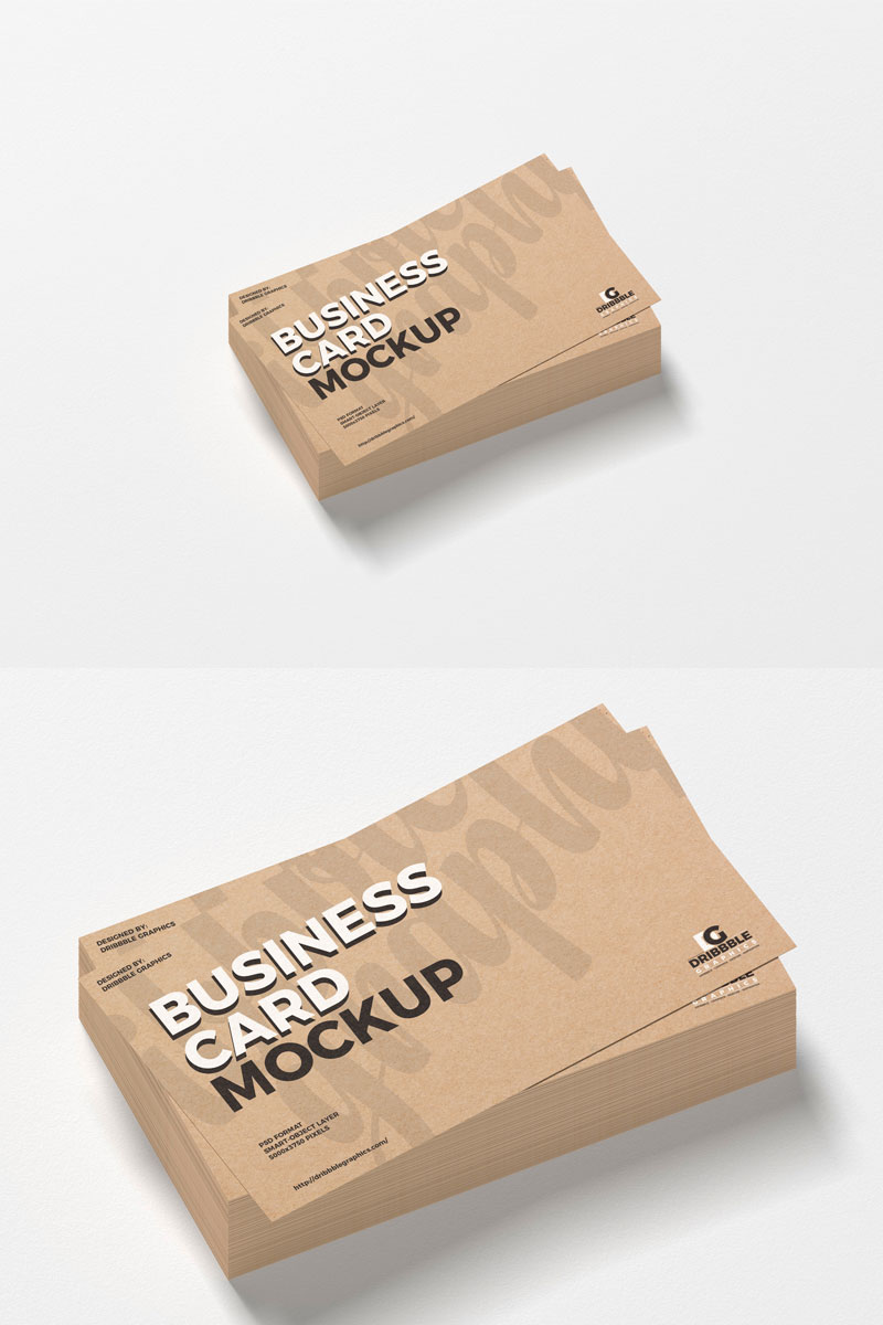 Free-Craft-Business-Card-Mockup-For-Presentation
