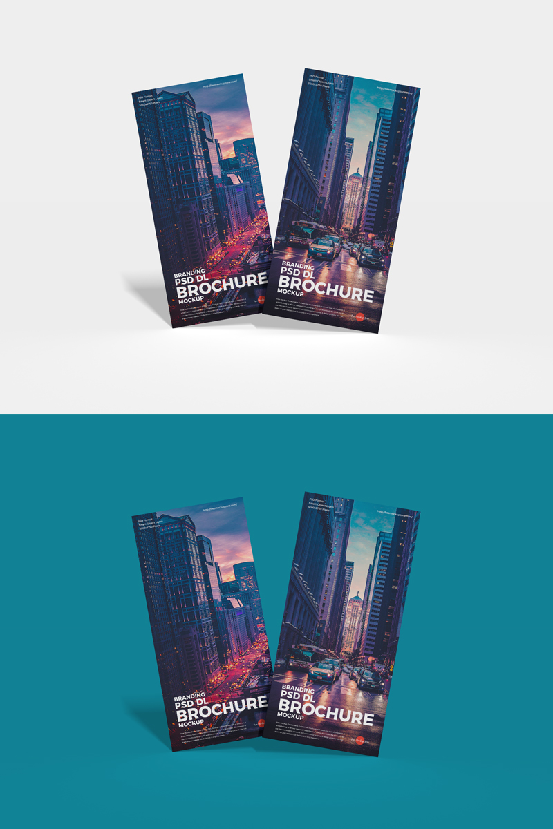 Free-Front-View-Stylish-DL-Brochure-Mockup