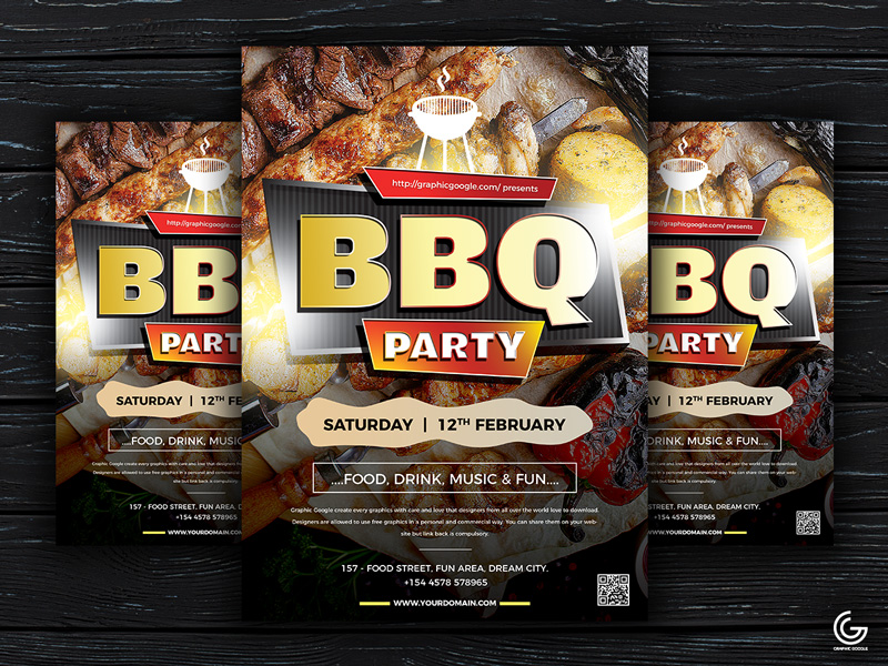 Free-Modern-BBQ-Party-Flyer-Template