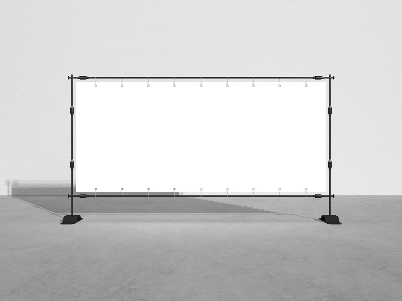 Free-Advertisement-Frame-Stand-Banner-Mockup-600