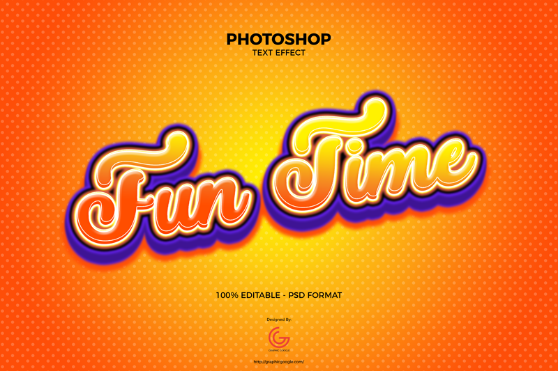 Free-Fun-Time-Text-Effect-PSD