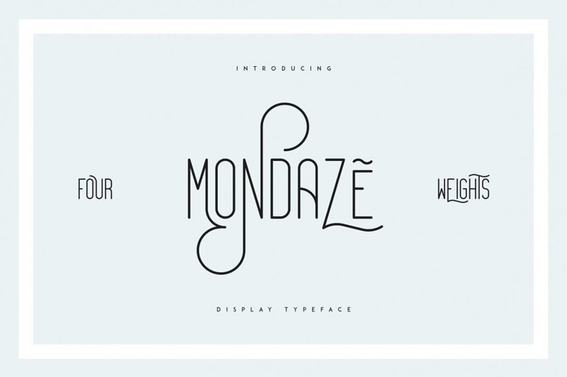 Mondaze-Display-Typeface