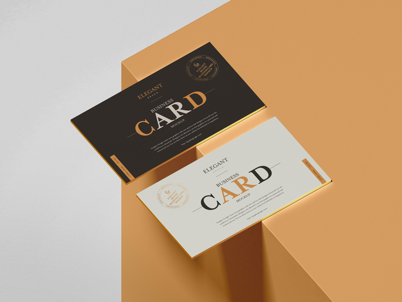Free-Elegant-Brand-Business-Card-Mockup
