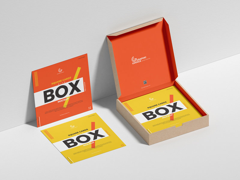 Free-Square-Cards-With-Box-Mockup-600