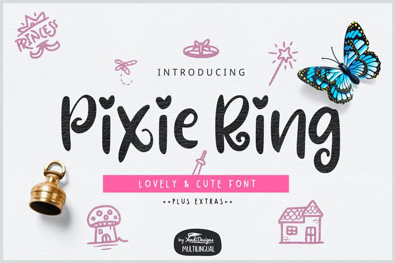Pixie-Ring-Lovely-And-Cute-Font