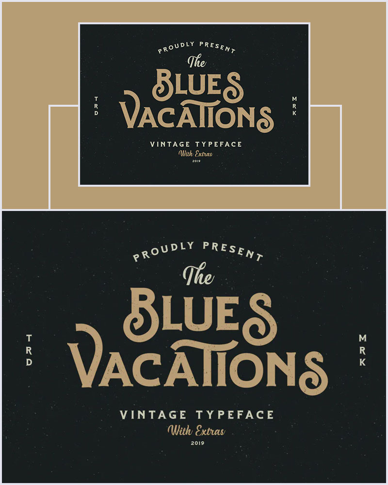 Blues-Vacation-Vintage-Serif-Typeface