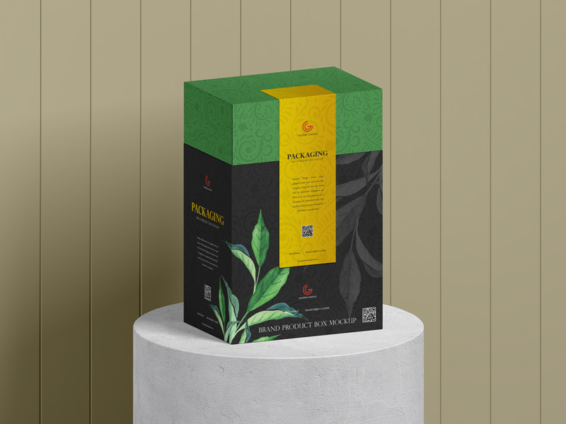 Free-Brand-Product-Packaging-Box-Mockup
