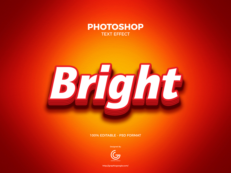 Free-Bright-Photoshop-Text-Effect