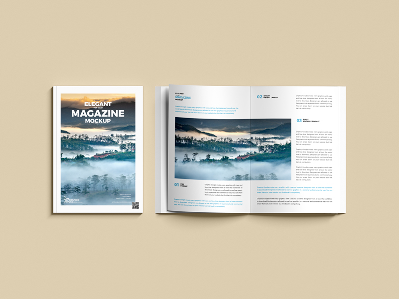 Free-Elegant-Top-View-Magazine-Mockup-600