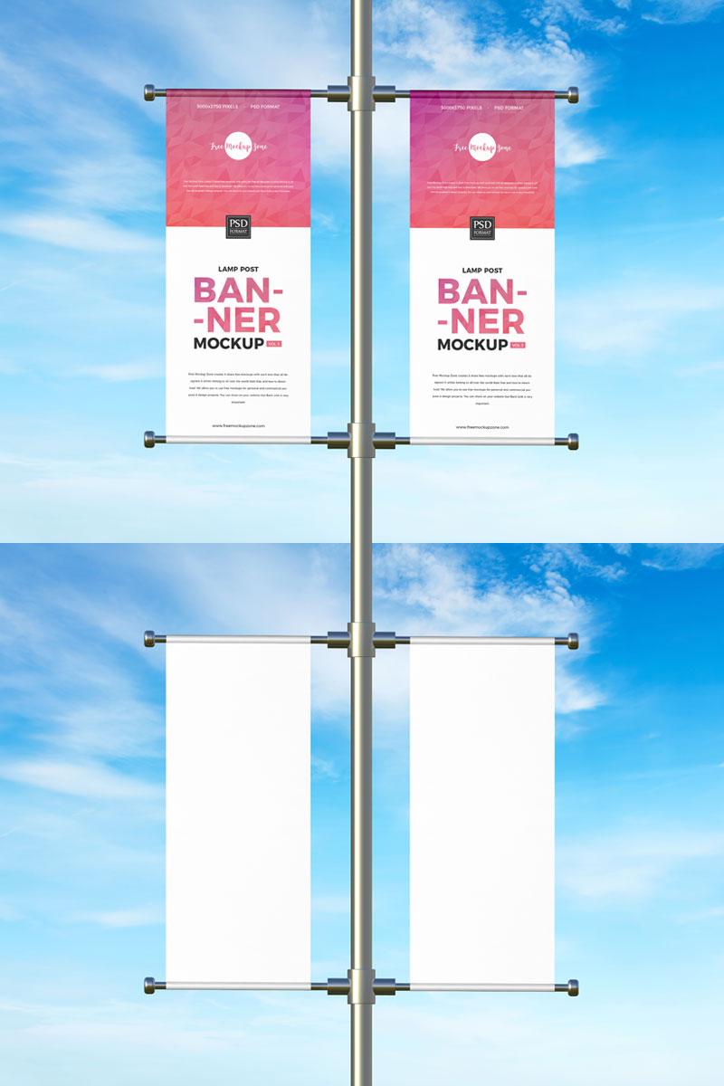 Free-Outdoor-Advertising-Lamp-Post-Banners-Mockup
