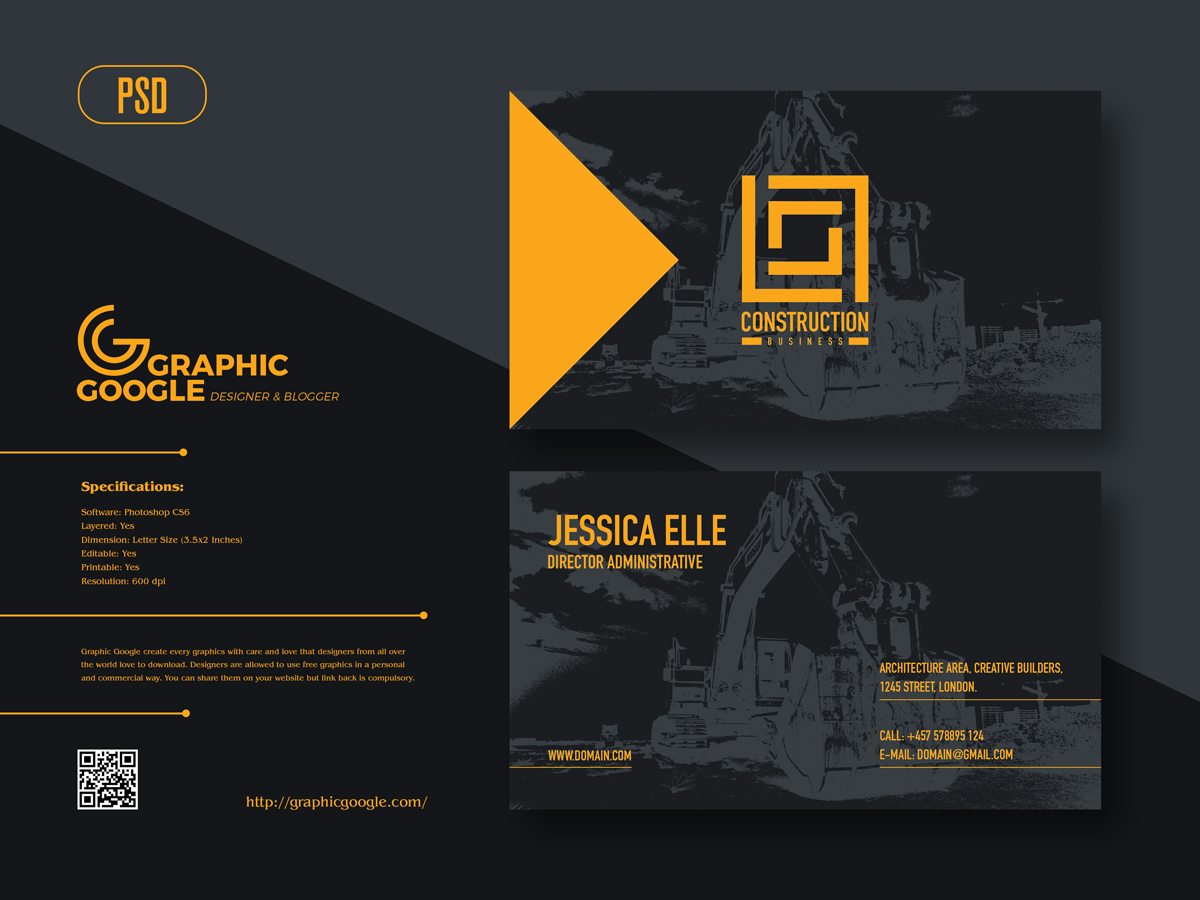 Free-Construction-Business-Card-Design-Template