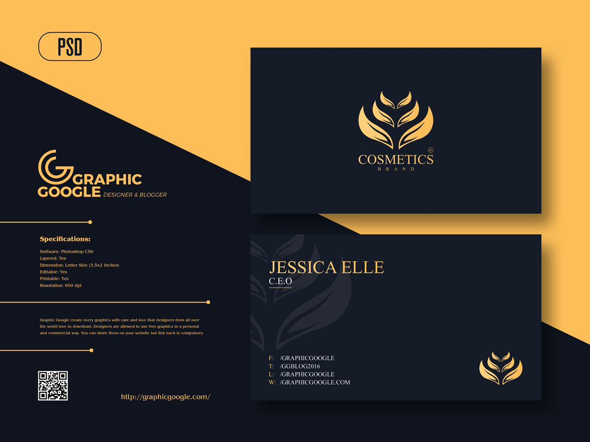 Free-Cosmetics-Brand-Business-Card-Design-Template