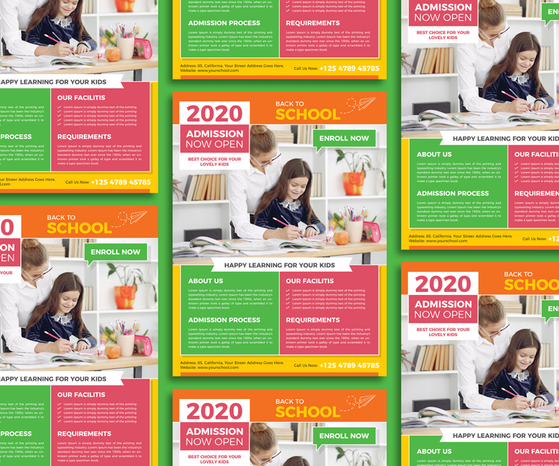 Free-Admission-Back-To-School-Flyer-Design-Template-2020-600