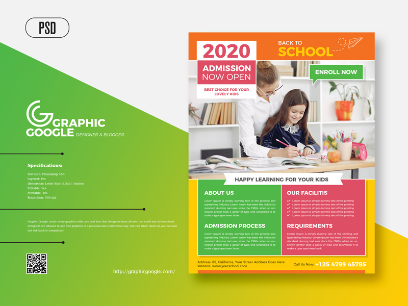 Free-Admission-Back-To-School-Flyer-Design-Template-2020